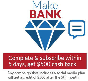 Create an advertising budget and subscribe within 5 days, get $500 cash back