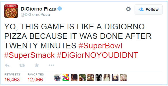 hashtag DiGiorno Pizza