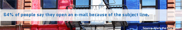 64% of people say they open an e-mail because of the subject line.