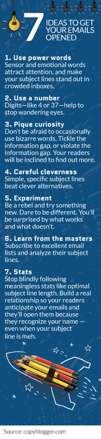 7 ideas to get your emails opened