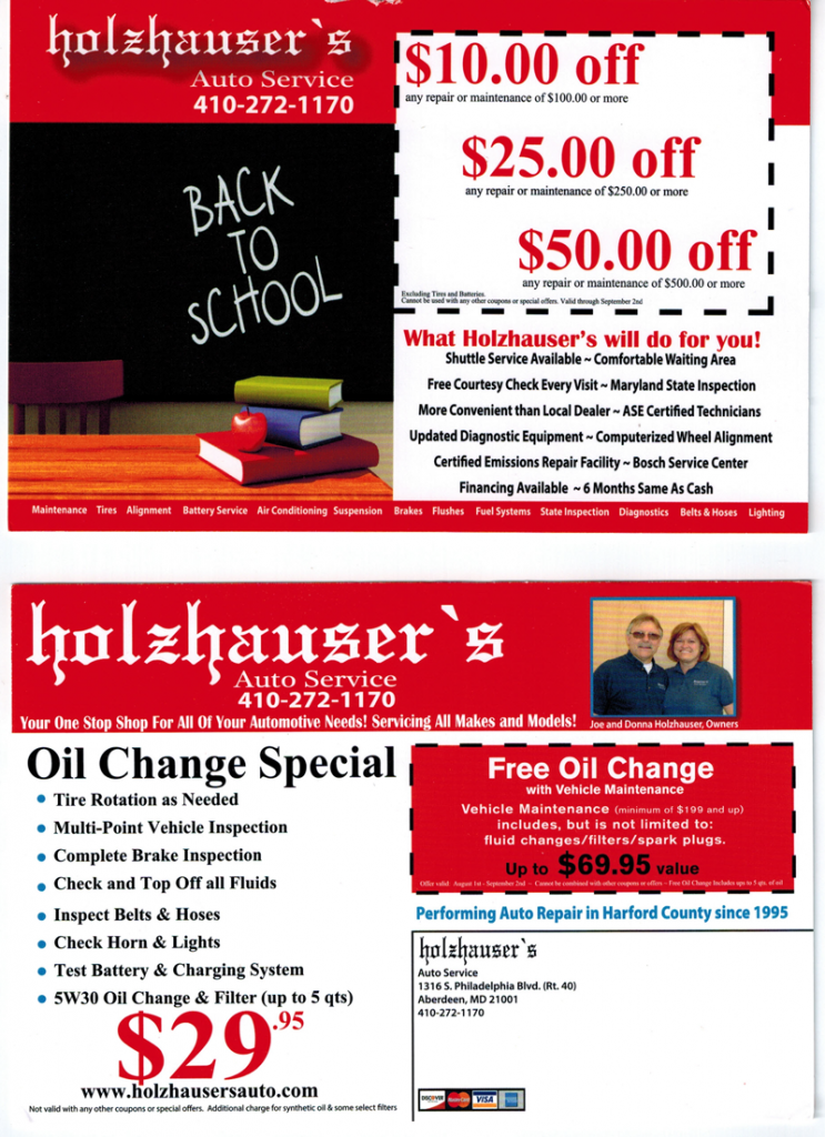 back to school with ATI coach oil change example