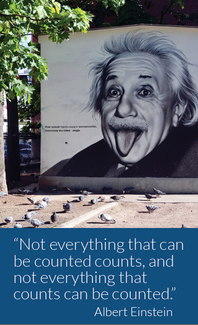 analytics for your marketing programs: Not everything that can be counted counts, and not everything that counts can be counted. Albert Einstein, Physicist