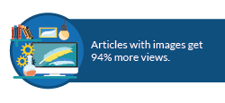 Content sharing stat: Articles with images get 94% more views.