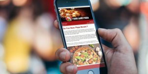email marketing newsletter monthly campaign for pizza place