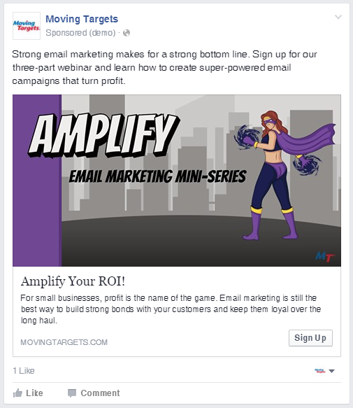 Building a list with Facebook ads