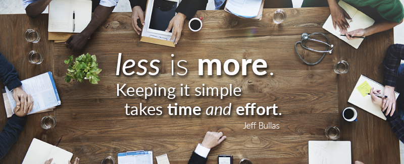 The do's and don'ts of marketing: less is more, keeping it simple takes time and effort