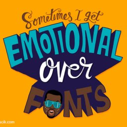 kanye west sometimes I get emotional over fonts
