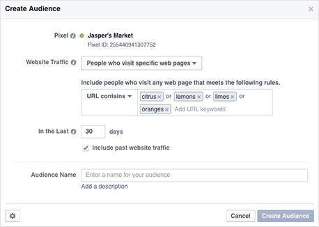 Use the Facebook pixel to create Custom Audiences.