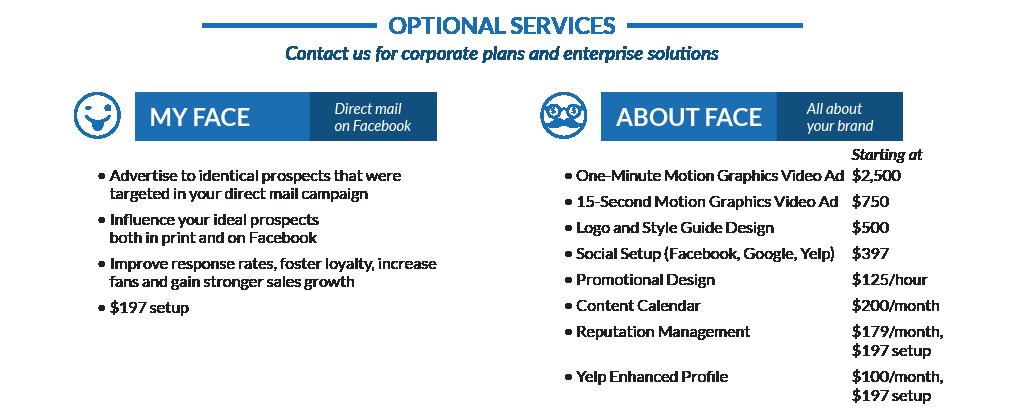 Social media optional services