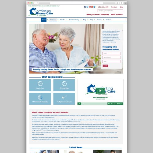 Comforting Home Care Website