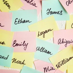 Names on sticky notes