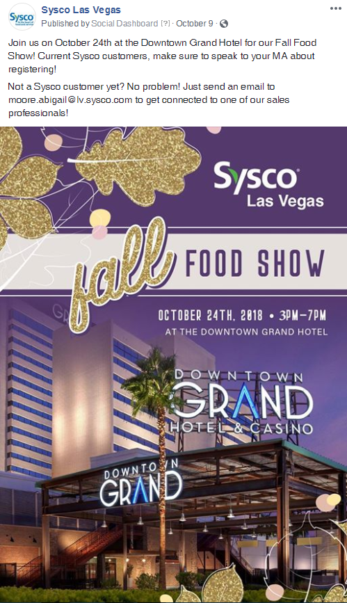 Diving into Digital with Sysco Foods: A Social Media