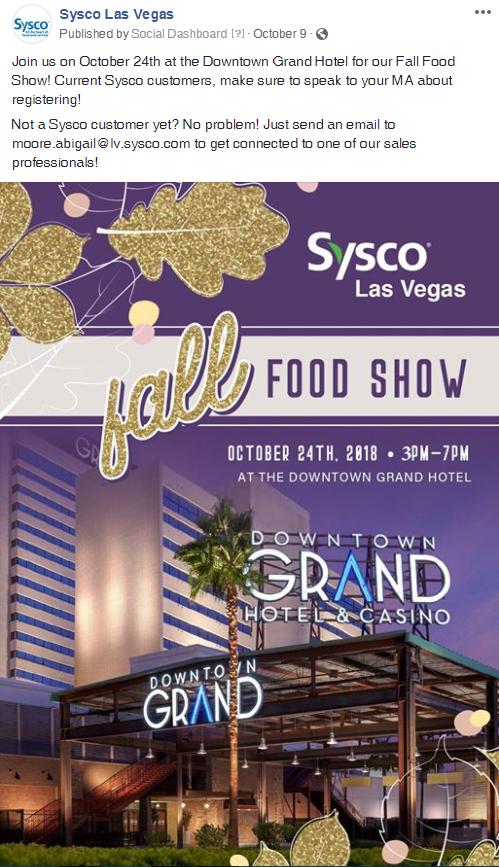 Sysco Las Vegas, Case Study