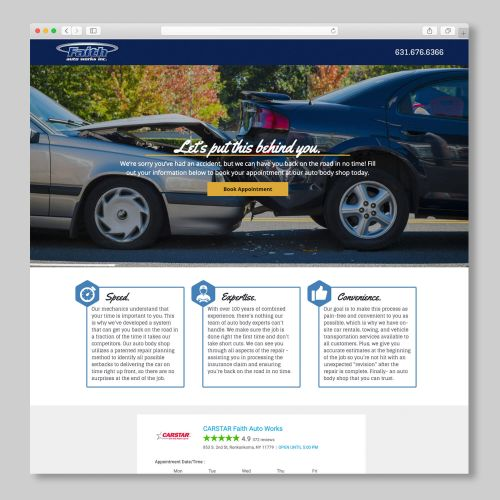 Faith Auto Works - Landing Page