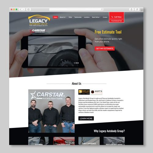 Legacy Autobody Custom Website