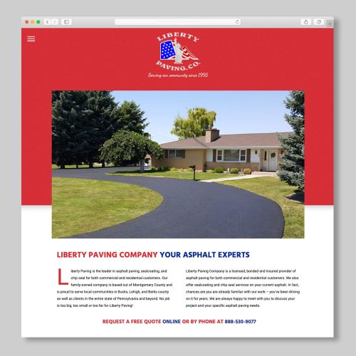 Liberty Paving Co. Templated Website