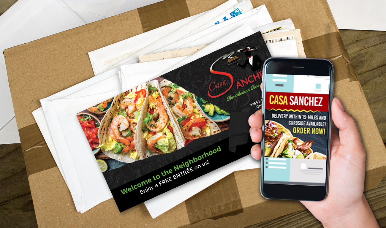 Digital Retargeting paired with Direct Mail